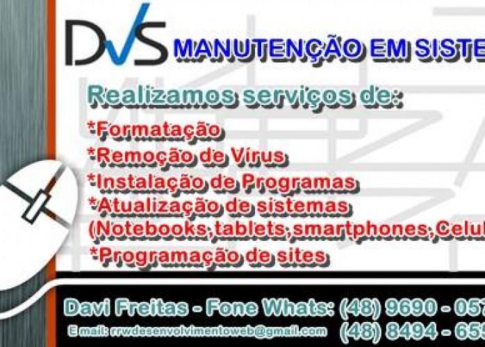 DVS FORMATAÇÃO SERVIÇOS EM SISTEMAS
