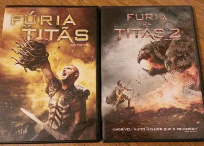 Dvd's Fúria de Titãs – 1 e 2 (2010 / 2012)