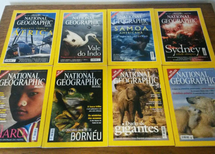 Revistas – National Geographic (2000) Nº 01 a 08 – Ed.Abril