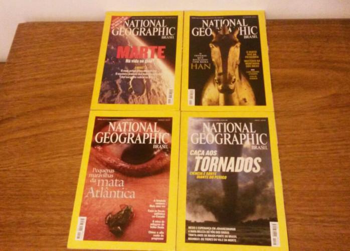 Revistas – National Geographic (2004) Nº 45 ao 48 – Ed.Abril