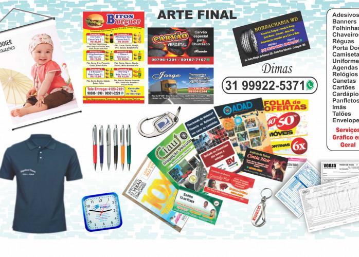 Arte Final, Serviços Gráficos, Banners, Brindes, Camisetas promocionais