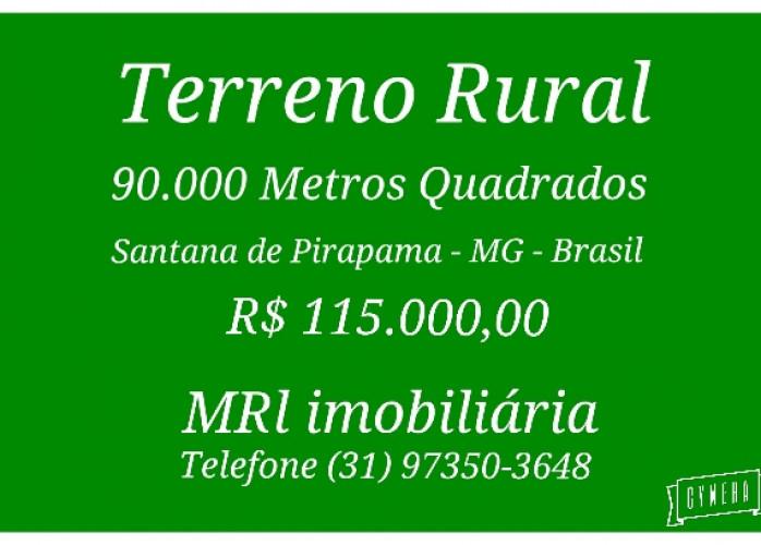 Terreno Rural 90.000 Mts Quadrados, Santana de Pirapama - MG