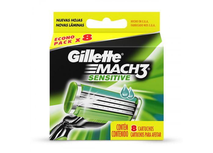 Mach 3 Gilette - Refil com 8 Cartuchos