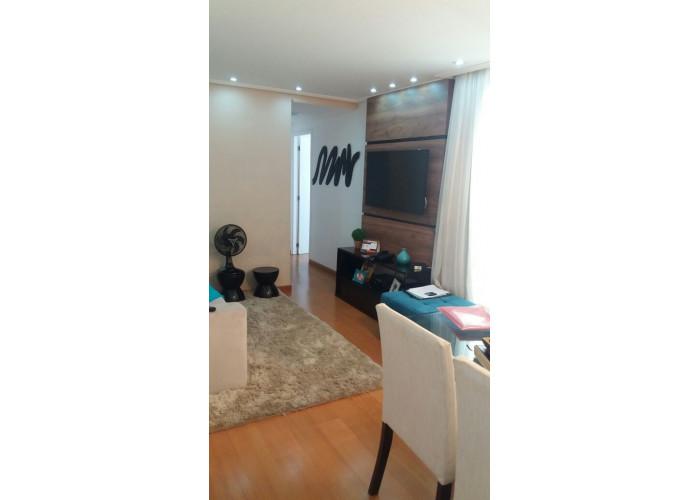 Apartamento Mobiliado 2 Dormitórios 55 m² no Fit Planalto em São Bernardo do Campo. Sala 2 ambientes com sacada, 2 dormi