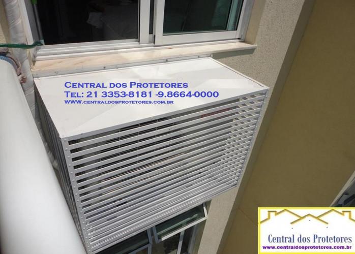 Caixa Grade Protetor capas para ar condicionado e Split em fibra de vidro e alumínio