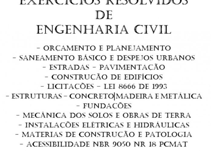 Exercícios Resolvidos de Engenharia civil – Concurso Público
