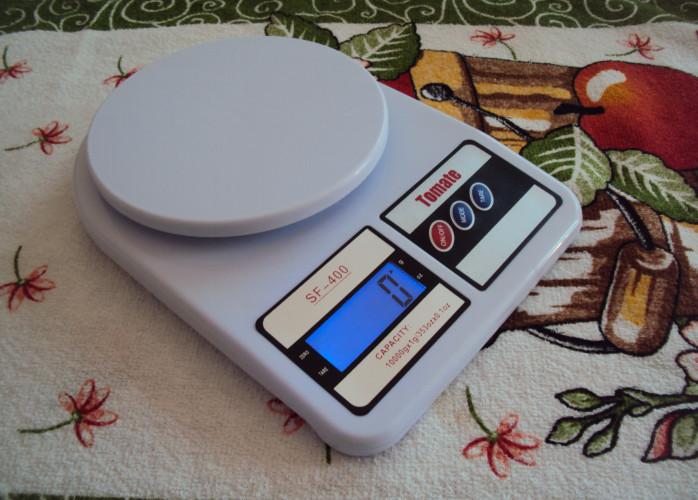 Balança Digital Para Cozinha Pesa De 1g Até 10 Kg Novinha Zera