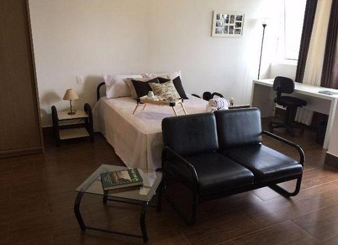 Studio residencial para locação, Tamboré, Santana de Parnaíba.