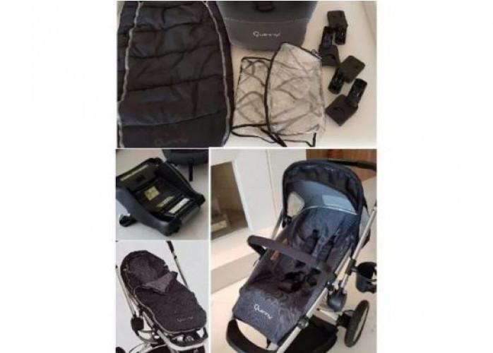 Carrinho quinny buzz + bebê conforto maxi cosi + moisés + cabriofix