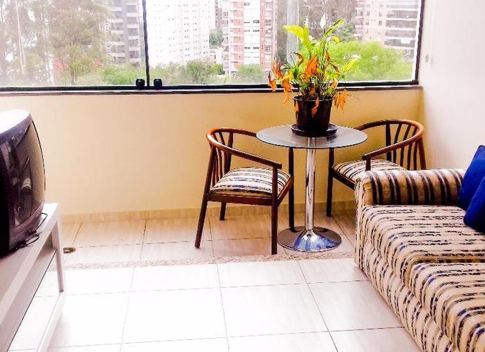Flat em Paraíso do Morumbi/SP de 44m² 1 quartos para locação R$ 1.200,00/mes