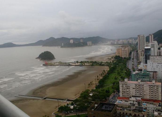 Apartamento 1 Dormitório (Grande) 66m² - Beira Mar - Unlimited Ocean Front - Gonzaga, Santos SP