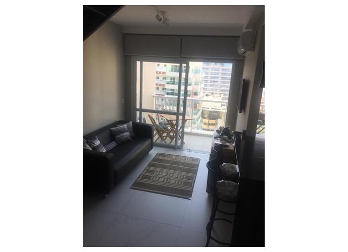 Apartamento Duplex em Gonzaga/SP de 60m² 1 quartos a venda por R$ 649.000,00 ou para locação R$ 4.200,00/mes