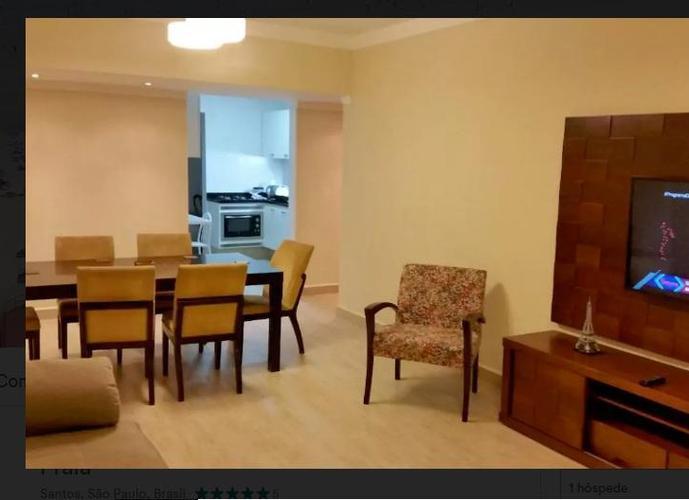 Apartamento Amplo de 3 Dormitórios residencial para locação, Boqueirão, Santos.