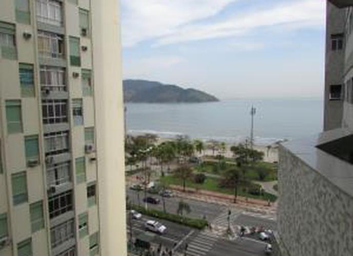 Edifício Ilhas do Sul , pé na areia. Kitnet residencial para locação, Aparecida, Santos.