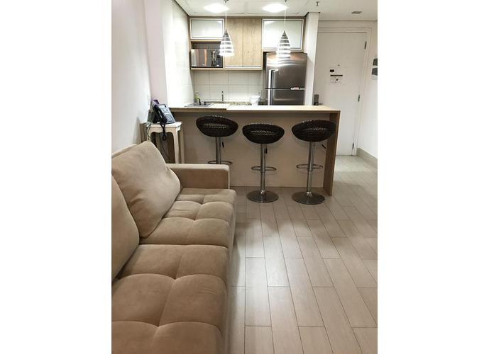 Flat em Boqueirão/SP de 40m² 1 quartos para locação R$ 3.400,00/mes