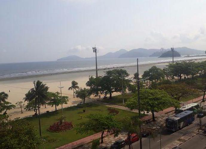 3 Dormitórios de Frente para o mar! Apartamento residencial para locação, Gonzaga, Santos.
