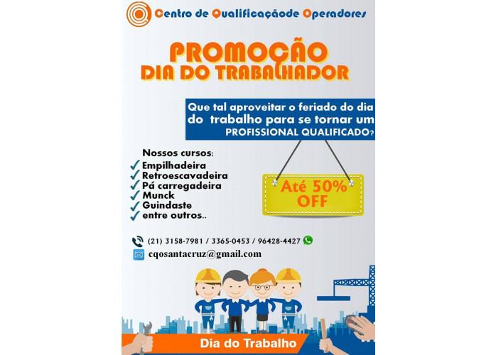 PROMOÇÃO DIA DO TRABALHADOR .