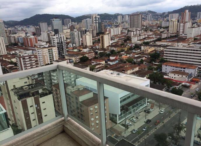 Apartamento residencial à venda no Emirado, andar alto, Boqueirão, Santos.