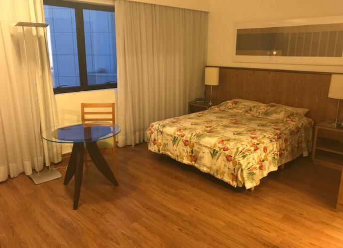 Flat em Indianópolis/SP de 28m² 1 quartos para locação R$ 2.700,00/mes