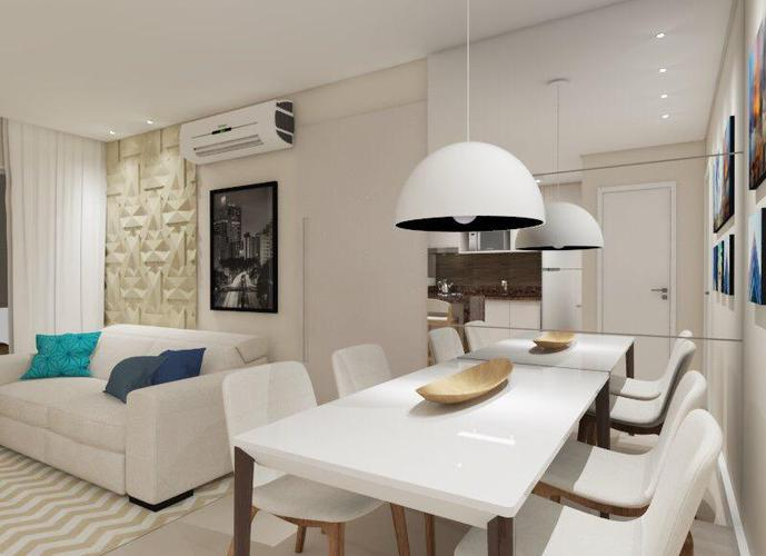 Apartamento em Gonzaga/SP de 57m² 1 quartos a venda por R$ 689.000,00 ou para locação R$ 3.690,00/mes
