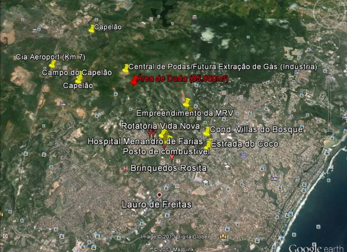 Terreno em Caji/BA de 67000m² a venda por R$ 10.000.000,00