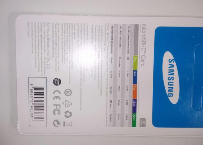 Cartão De Memoria Samsung 32gb Class10 Novo Preço De Atacado
