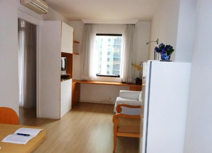 Flat em Itaim Bibi/SP de 35m² 1 quartos para locação R$ 4.400,00/mes
