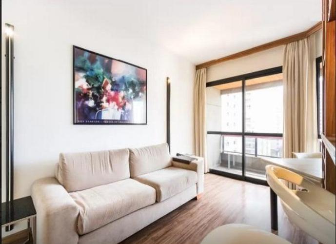 Flat em Itaim Bibi/SP de 45m² 1 quartos para locação R$ 315,00/dia