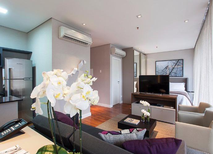 Flat em Itaim Bibi/SP de 68m² 1 quartos para locação R$ 9.500,00/mes
