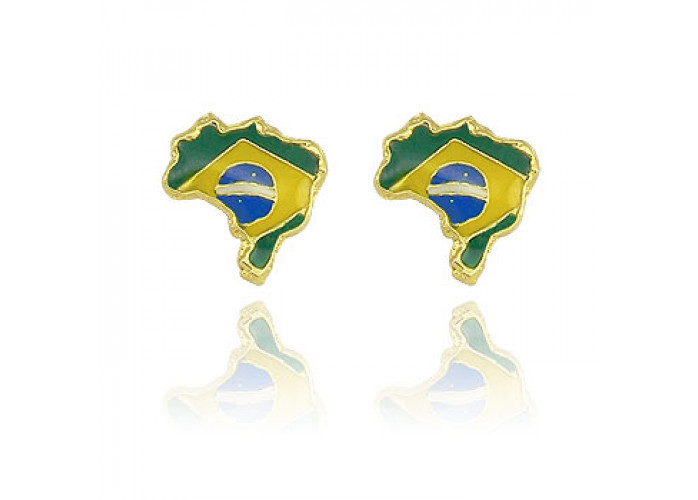 Bijuterias Copa Do Mundo, lindos folheados para você torcer para o brasil.