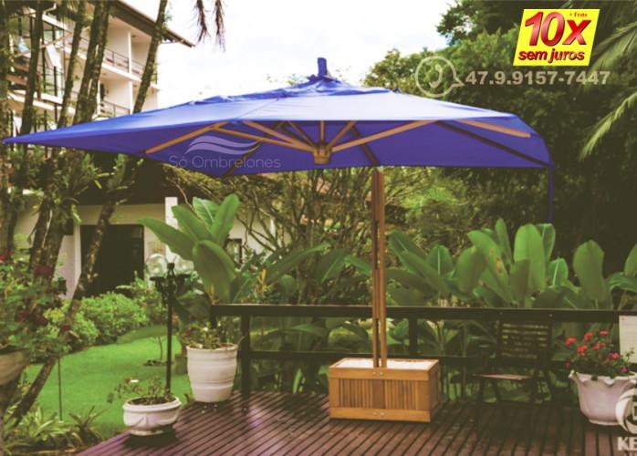 Compartilhe com a sofisticação do ombrelone de madeira (Direto de fábrica)