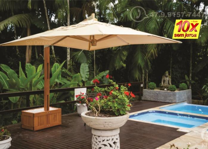 Complete sua diversão na piscina com a proteção de um Ombrelone
