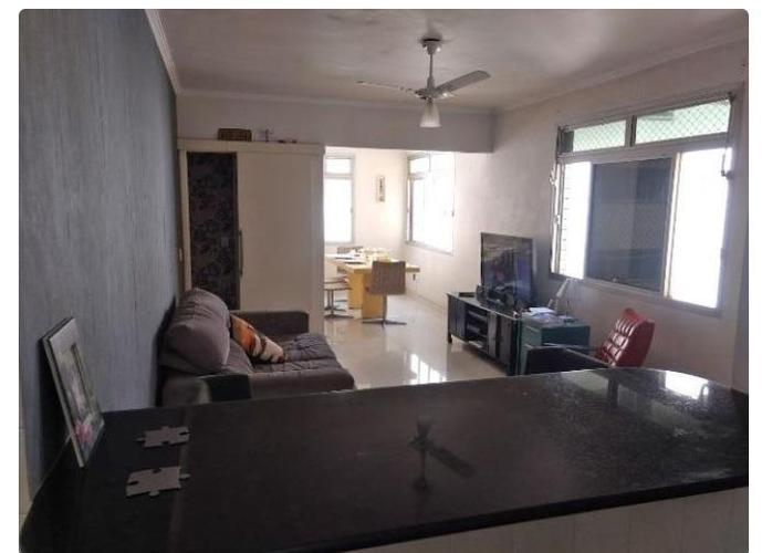 Apartamento 3 quartos, mobiliado frente a praia, no Embaré, Santos