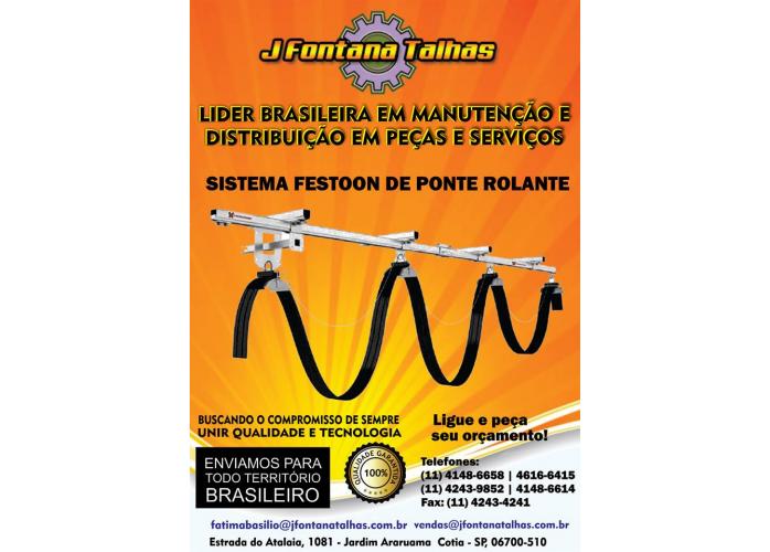 Sistema Festoon de Ponte Rolante J Fontana Talhas Barramento Blindado MF