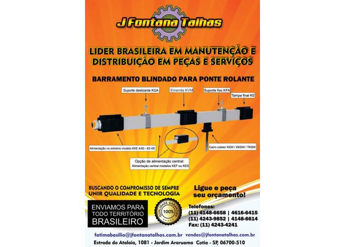 Barramento Blindado para Ponte Rolante J Fontana Talhas MF