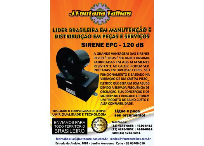 Sirene EPC 120 dB - J Fontana Talhas