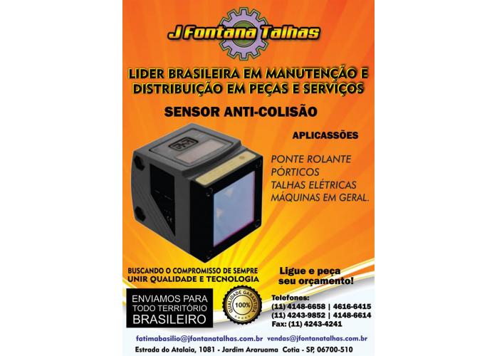 Sensor anti Colisão para Ponte Rolante J Fontana Talhas mf