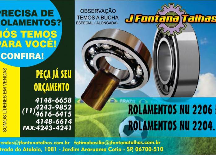 ROLAMENTOS PARA TALHAS ELÉTRICAS DE MARCA MUNCK TIPO 221 223 225