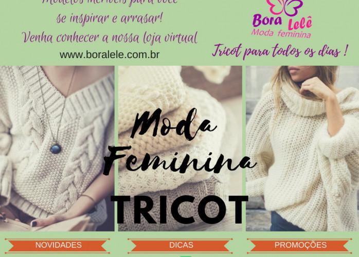 Moda feminina tricot bora lele