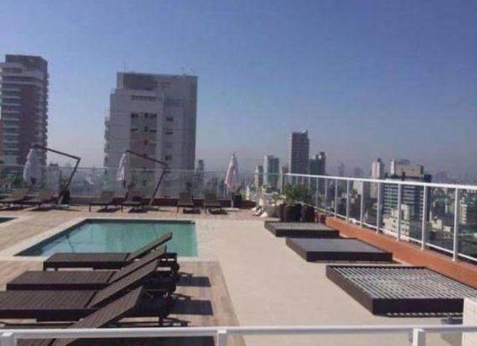 Apartamento em Gonzaga/SP de 57m² 1 quartos a venda por R$ 450.000,00 ou para locação R$ 3.400,00/mes