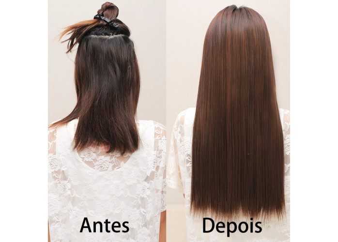 Aplique Removível. Você gostaria de ter um cabelo grande ou volumoso?