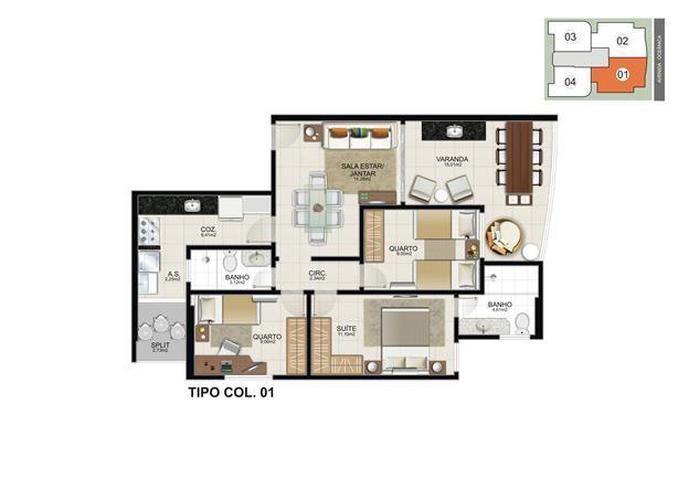 Edifício Veneto - Apartamento em Lançamentos no bairro Praia do Morro - Guarapari, ES - Ref: VENDA-15