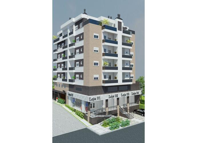 Apartamento 02 Dormitórios c/ Suíte - Apartamento a Venda no bairro Florestal - Lajeado, RS - Ref: 207