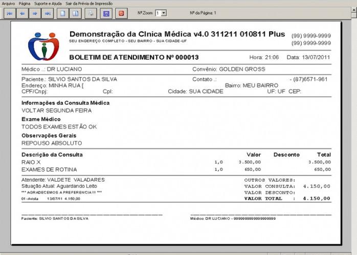 Programa Consultório e Clinica Médica com Agendamento, Vendas e Financeiro v4.0 fpqsystem
