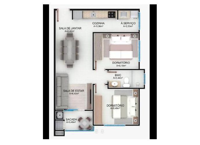 Apartamento a Venda no bairro Tapajós - Indaial, SC - Ref: IM36358