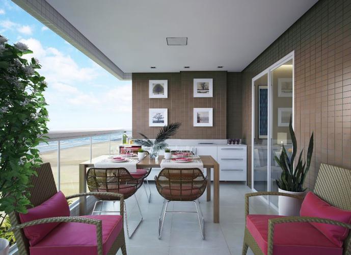 APARTAMENTO FRENTE PARA O MAR - Apartamento a Venda no bairro Aviação - Praia Grande, SP - Ref: LP22008