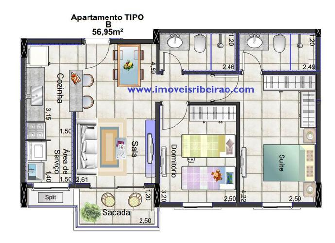 Apartamento em Lançamentos no bairro Nova Aliança - Ribeirão Preto, SP - Ref: APA-1043-1