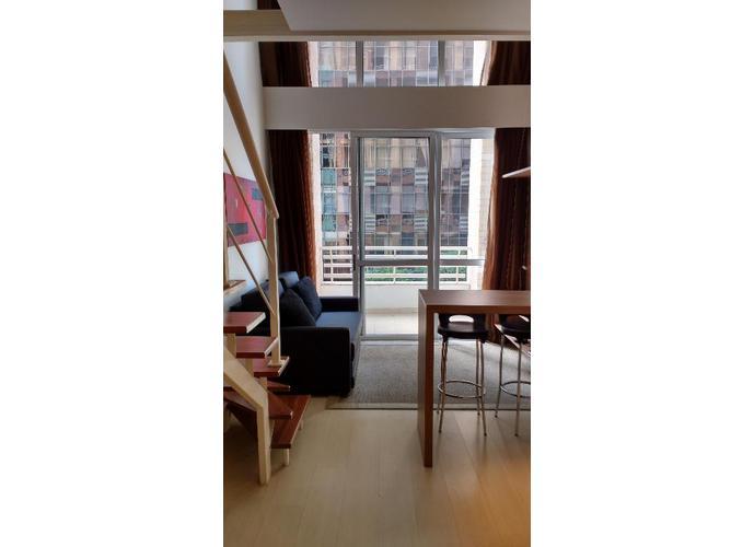 Apartamento em Cidade Monções/SP de 40m² 1 quartos para locação R$ 3.200,00/mes