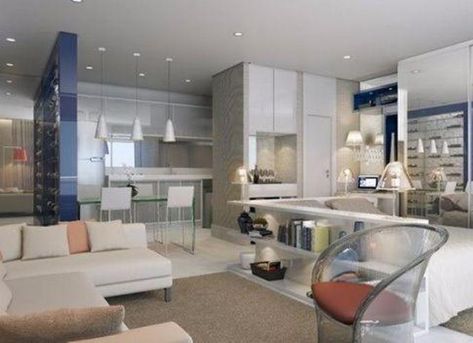 Apartamento em José Menino/SP de 51m² 1 quartos a venda por R$ 390.000,00 ou para locação R$ 3.900,00/mes