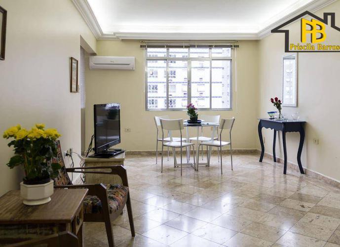 Lindo e amplo apartamento no Gonzaga, Santos - Locação